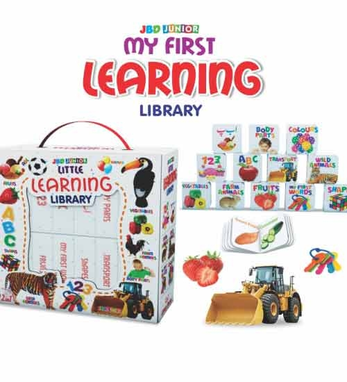 Little learning  library 12 book in one library for kids