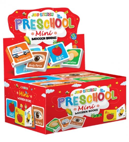 Pre school mini wooden books